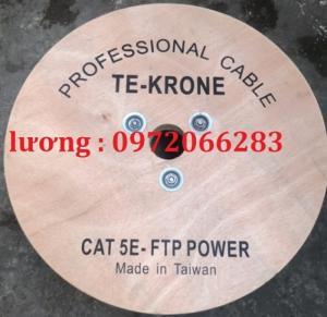 Cáp mạng kèm nguồn Cat5e FTP + 2C lõi đồng ngoài trời TE-KRONE
