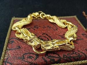 Lắc tay rồng mạ vàng
