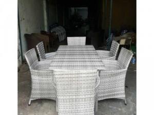 Bộ bàn ghế ăn nhựa giả mây giá rẻ