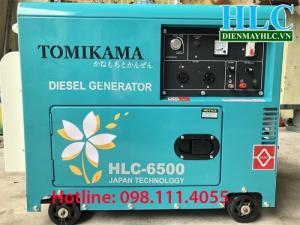 Máy phát điện chạy dầu Tomikama hlc-6500 công suất đủ
