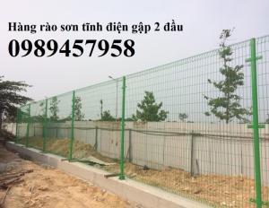 Hàng rào sơn tĩnh điện Phi 5 ô 50x150 và 50x200 giao hàng tận nơi