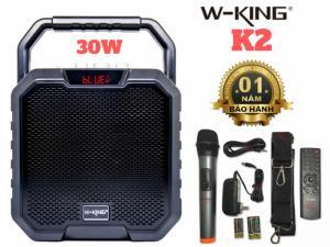 Loa Bluetooth Không Dây W-King K2 Tặng Kèm Mic 30W