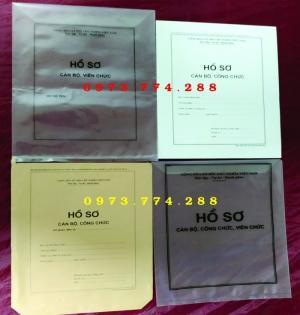 In vỏ túi hồ sơ cán bộ công chức viên chức
