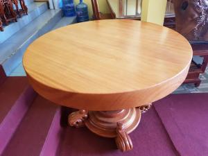 Mặt bàn ăn tròn nguyên tấm 1,2m x dày 12cm