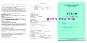 Lý lịch viên chức (mẫu 1a-bnv/2007)