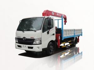 xe tải hino 3t5 gắn cẩu unic 3 tấn 4 khúc