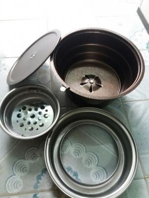 Bếp Nướng than hoa âm bàn Cho quán nướng bbq kích thước 34.5 cm