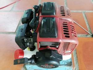 Đầu máy cắt cỏ 2 xi lanh tự chế