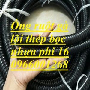Ống ruột gà lõi thép bọc nhựa phi 16,phi 20,phi 32 ống bảo vệ dây điện