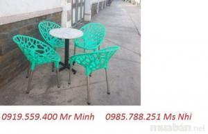 bàn ghế nhựa HGH 03