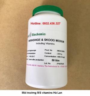Cung cấp môi trường MS vitamins Hà Lan nuôi cấy mô