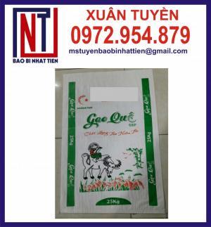 Bao đựng gạo 25kg in flexo