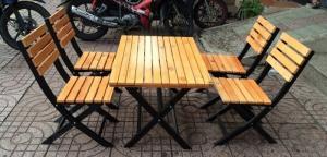 bàn ghế gổ cafe giá rẻ tại xưởng sản xuất HGH 1324