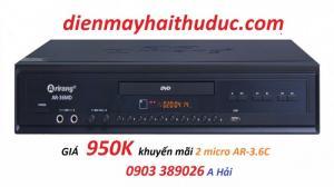 Đầu karaoke 5 số Arirang AR-36MD khuyến mãi 2 micro AR-3.6