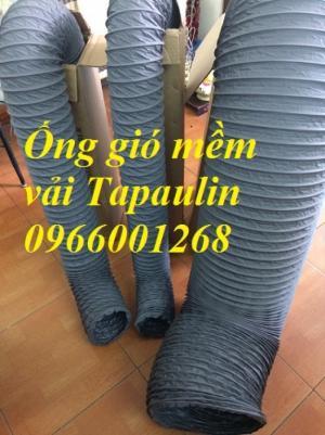 Ống gió mềm vải Tarpaulin phi 75,phi 100,phi 125,phi 150 và các phi khác