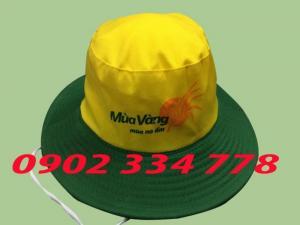 xưởng may nón tai bèo màu vàng giá rẽ - mũ tai bèo mùa vàng