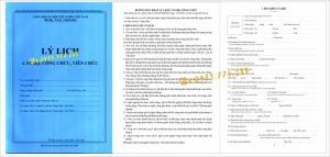 Sổ sơ yếu lý lịch mẫu 1a/TCTW