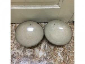 Cặp bát xưa cũ men rạn tự nhiên, tình trạng như hình, kt đk 15,5 cm