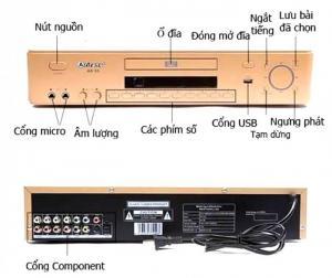 Đầu Arirang AR-36 khuyến mãi 2 micro AR-3.6C, bán Đại Hạ Giá