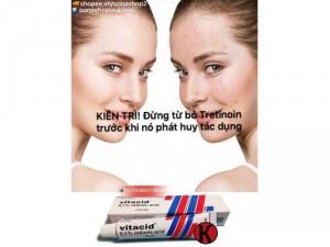 Kem Tretinoin 0.1% Kem Vitacid 0.1% Ngăn ngừa lão hoá da (20g)