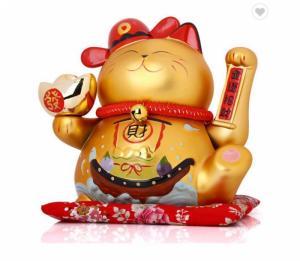 Mèo thần tài vẫy tay size to dùng pin và điện cao cấp