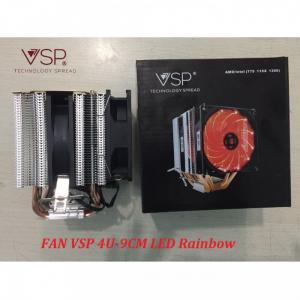 Fan CPU VSP 4U-9cm LED chính hãng dùng cho tất cả Socket