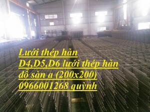 Chuyên cung cấp lưới thép hàn công trình D4,D5,D6 mắt 150x150,200x200...