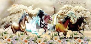 Gạch tranh mã đáo thành công - tranh ngựa