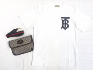 Áo thun nam trắng in chữ BT xám lồng ghép thời trang siêu cấp L65
