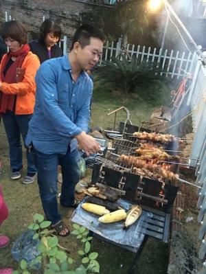 bán bếp nướng sân vườn khung thép Acter tree ck350 cho nhà hàng , khu nghỉ dưỡng