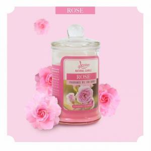 Nến thơm ly thủy tinh cao cấp Leviter tinh dầu hoa hồng