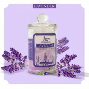 Nến thơm ly thủy tinh cao cấp Leviter tinh dầu oải hương