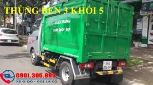 Xe chở rác 1 tấn thùng 3 khối 5 nhãn hiệu jac...