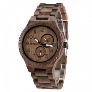 Đồng hồ nam bằng gỗ độc lạ, chất lượng, Đồng hồ đeo tay nam gỗ óc chó chính hãng bewell