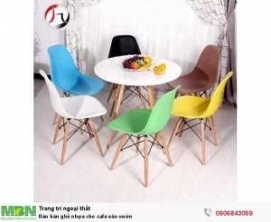 Bán  bàn ghế  nhựa cho cafe sân vườn