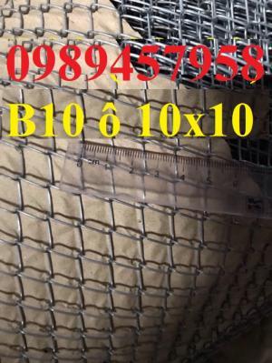 Lưới b10 ô 10x10, b20 ô 20x20 mạ kẽm giao hàng tận nơi