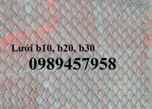 Sản xuất lưới b20 mạ kẽm, b20 bọc nhựa hàng có sẵn