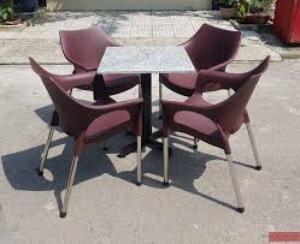 bàn ghế cafe nhựa sân vườn