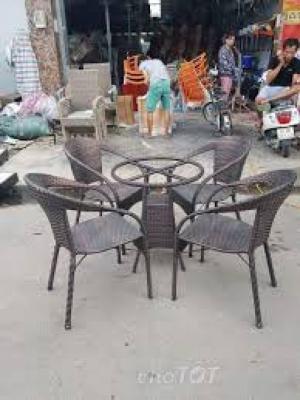 bộ bàn ghế cafe cao cấp hgh 03
