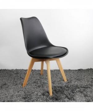 ghế nhựa niệm chân gỗ hgh09