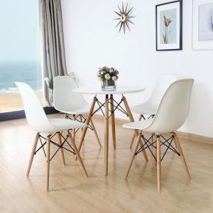 bàn ghế cafe nhựa chân gỗ sân vườn hgh10