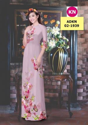 Vải bộ áo dài in đẹp ADKN 02-1939 (vải áo và vải quần )