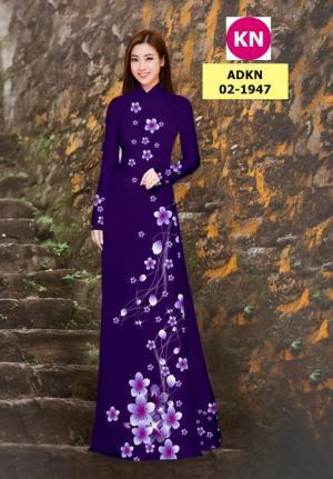 Vải bộ áo dài in đẹp ADKN 02-1947 (vải áo và vải quần )