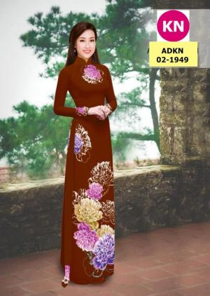 Vải bộ áo dài in đẹp ADKN 02-1949 (vải áo và vải quần )