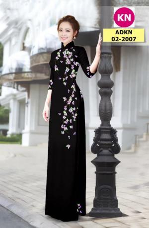 Vải bộ áo dài in đẹp ADKN 02-2007 (vải áo và vải quần )