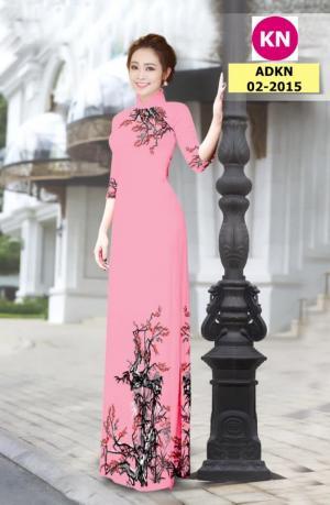 Vải bộ áo dài in đẹp ADKN 02-2015 (vải áo và vải quần )