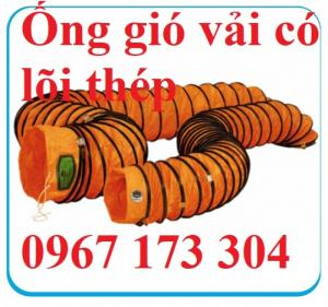 Ống vải màu cam có lõi thép D300, D400, D500 ,...