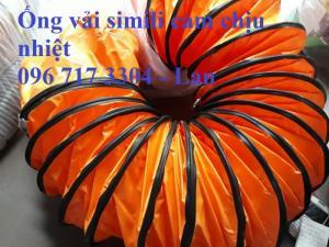 Ống gió vải cam chịu áp lực dùng cho quạt hút công nghiệp D300, D400, D500 ,...