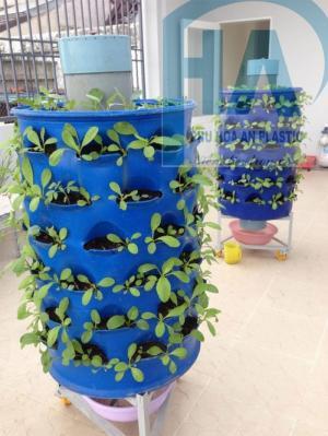 Các đặc điểm vượt trội khi trồng rau trong tháp trồng rau Phú Hòa An