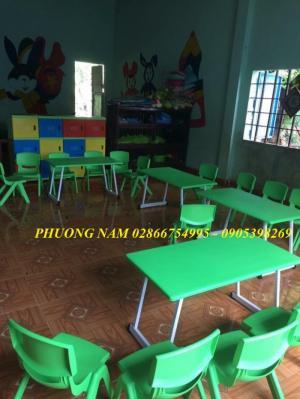Bàn ghế mầm non cho trẻ giá rẻ tại Sài Gòn